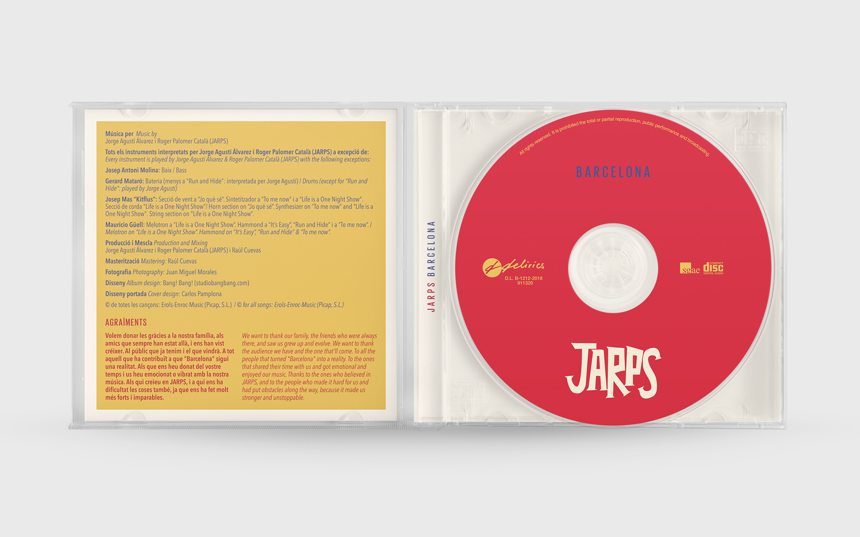 JARPS. BARCELONA. INTERIOR CD.